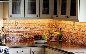 Как класть фартук из мозаичной плитки своими руками