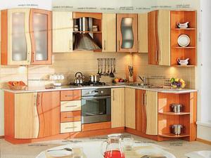 Цветная компактная кухня