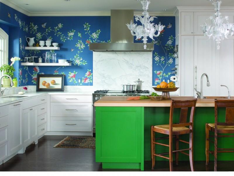 Декор на стенах кухни