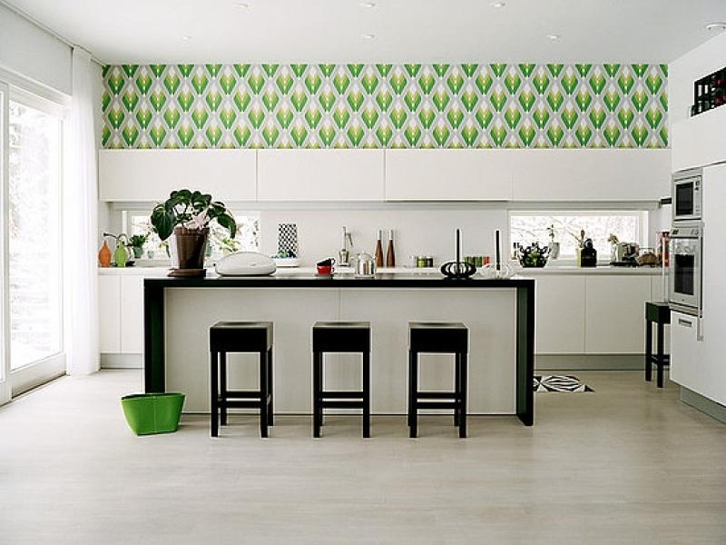 Пример обоев на кухне