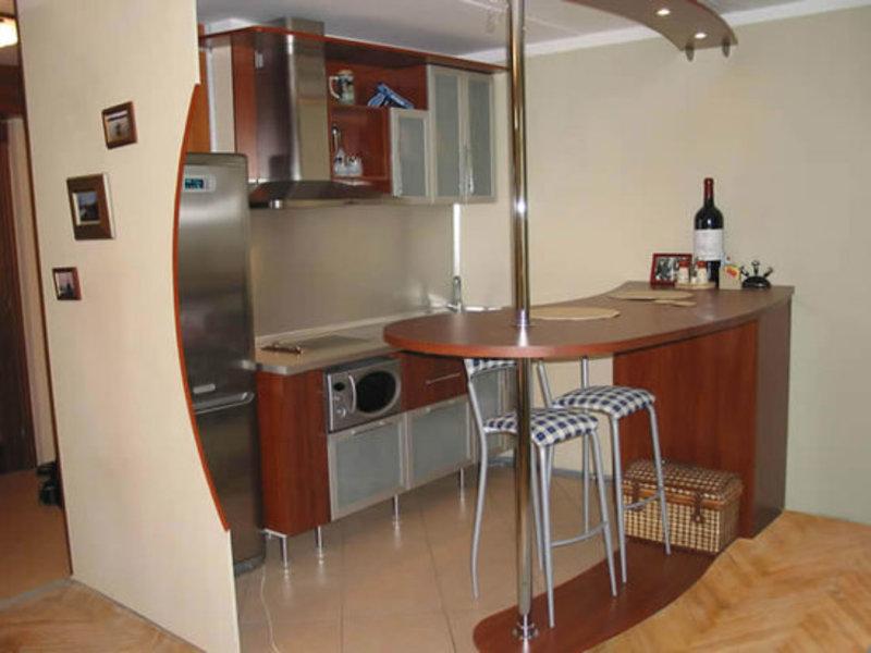 Интерьер кухни с фото и барной стойкой фото