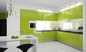 Кухни оливкового цвета фото