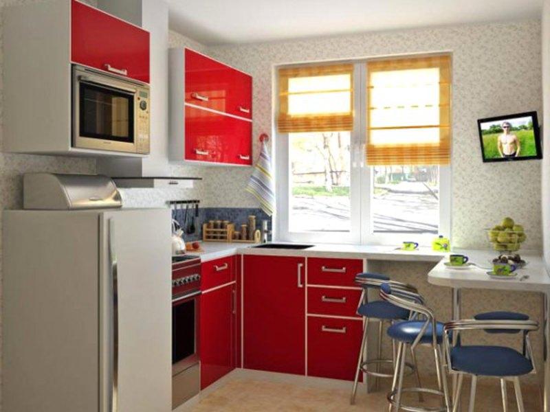 Кухня в хрущевке дизайн все размеры