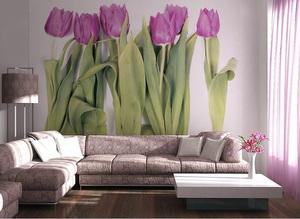 тюльпаны фотообои в интерьере фото