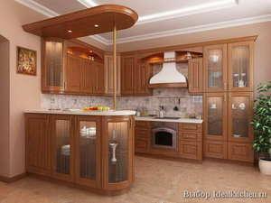 кухонные гарнитуры с барной стойкой