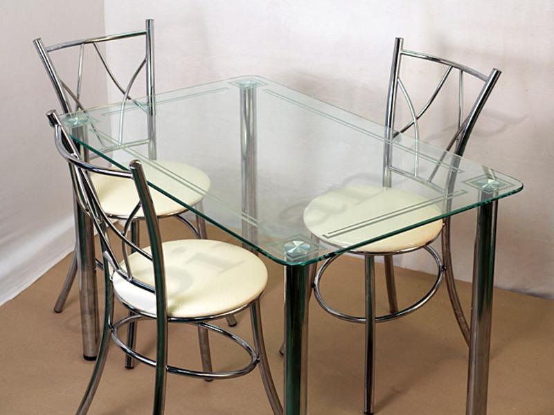 Стеклянные столы для кухни интерьеры