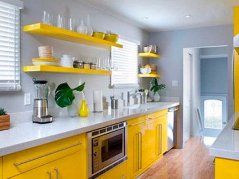 Кухни из пластика желтых цветов фото