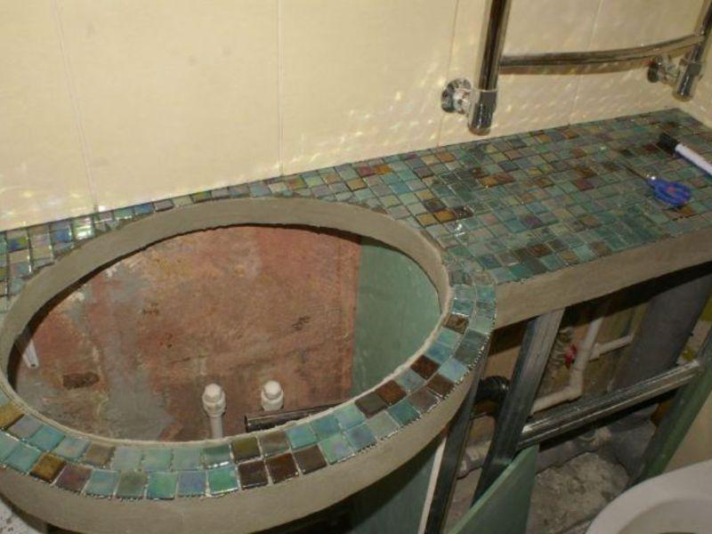 Ванная комната сделанная своими руками фото
