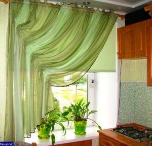 Занавески на кухню своими руками: выкройки и тонкости Пошив штор в кухню своими руками