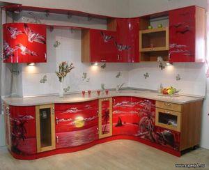 Декор на стенах в кухне