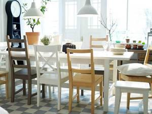 столы и стулья для кухни представленные компанией икеа