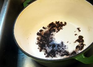 очистить пригоревшую эмалированную кастрюлю