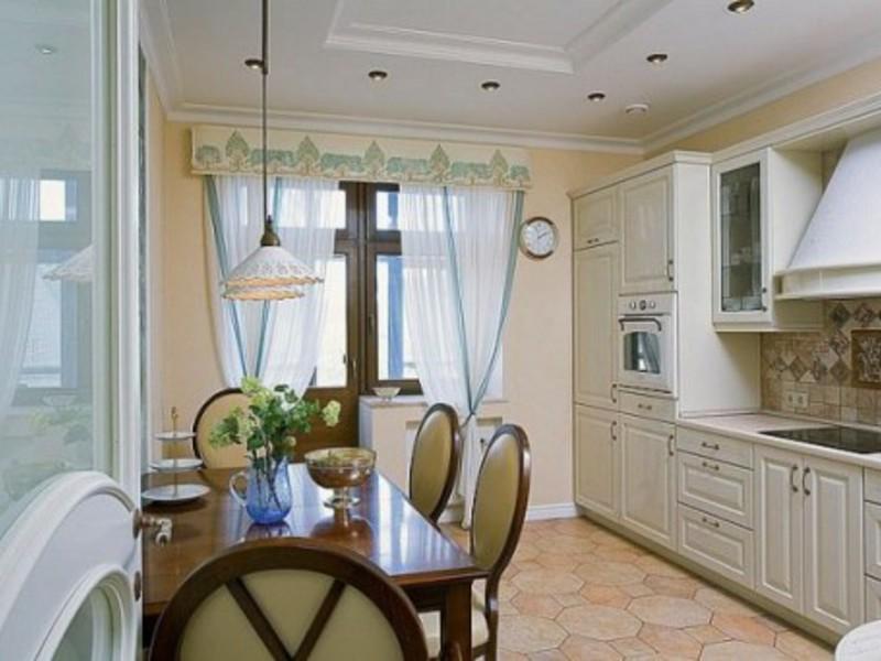 Дизайн штор для кухни с балконом