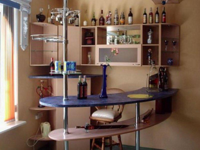 кухни мини с барной стойкой: