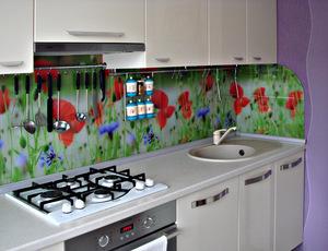 Установка фартука на кухни