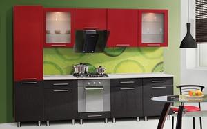 кухни красный верх черный низ фото