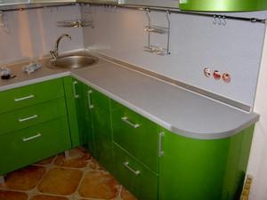 Сочно зеленый кухонная гарнитура