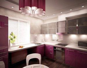 Качественное освещение кухни будет состоять из нескольких светильников