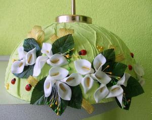 Люстра из ткани с цветочным декором - утонченный вариант