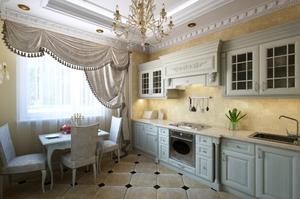 дизайн интерьера кухни частного дома фото