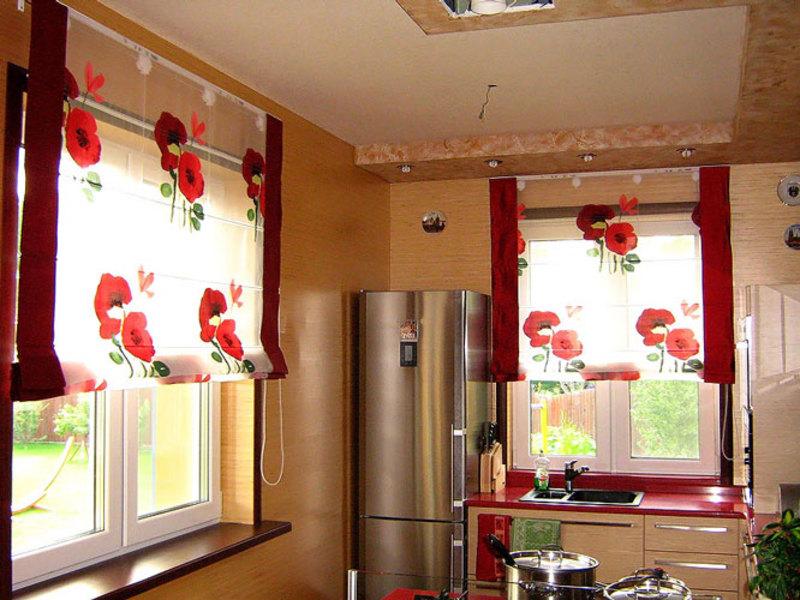 Римская штора своими руками для кухни